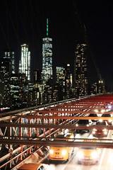 Brooklyn Bridge(1) (Sarah Walkington) Tags: brooklyn bridge traffic skyline busy bustling light