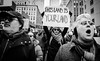 Donald Trump Immigration Ban Protest - NYC 2017 (A Screaming Comes Across the Sky) Tags: donald trump immigration ban protest nyc 2017 political politics democrat republican gop nikon tamron 2470 d800e d800 new york city newyork manhattan people monochrome crowd additional tags you safe f buildin photoadd