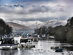 Winter in the hills, Balloch (alison2mcewan) Tags: loch scotland scottish uk boats lomond snow winter scene outdoor balloch