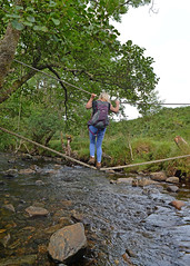 Just a walk in the Park... (Harleynik Rides Again.) Tags: sandaig camusfearna ropebridge burn stream river highlands glenelg scotland nikondf harleynikridesagain