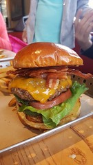Health food not (Let Ideas Compete) Tags: food hamburger fattening bacon cheese cheeseburger
