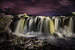 Sioux Falls after sundown (Notkalvin) Tags: siouxfalls waterfall southdakota night evening aftersunset sunset dark longexposure mikekline notkalvin notkalvinphotography canon erosion river water pinksky nightsky outdoor falls rocks nature afterdark scenic naturalbeauty flow sioux