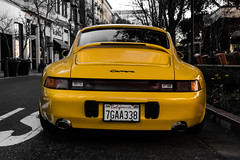 (koagoings) Tags: aperture colorfocus photography camra oldie supercar yellow carrera porsche