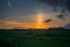 sun pillar (g a millington) Tags: sunpillar lightpillar halo sun sunset sunhalo skies skiesabove
