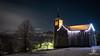 DSCF0888- Copyright Bruno Lavit 2 (kazimodo38) Tags: mairie neige night nuit plateau saintbernard sainthilaire église