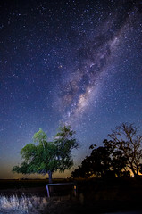 Image of Milky Way (Indigo Skies Photography) Tags: universe stars galaxy milkyway galacticcentre southernsky trees tree street streetscape rural landscape river water sky light country colour red blue yellow pink orange white green night nightsky nikond7000 tokina1116mmf28