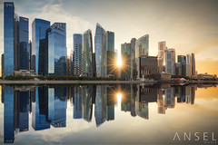 Double Star (draken413o) Tags: singapore city cityscapes skyline skyscrapers architecture urban places scenes asia travel destinations sunset sunburst panorama irix 15mm wow amazing reflections marina bay