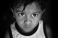 Innocence (Rk Rao) Tags: kurnool andhrapradesh india portrait blackandwhite children innocence bigeyes expressions