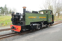 Steam engine. (aitch tee) Tags: steamengine narrowgauge valeofrheidolrailway greatwestern touristattraction walesuk
