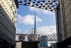 The Burj Khalifa from the City Walk (H31157r0M) Tags: citywalk dubai дубай uae оаэ tower benoy dewan burjkhalifa бурджхалифа architecture архитектура arquitectura view вид vista tallest skyscraper небоскрёб rascacielos здание building edificio башня torre canon city город ciudad street улица calle