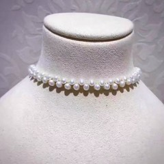 freshwater  pearl choker necklace,(03089) (perry pearl) Tags: fashion jewelry necklace pearl women choker gift makeup beauty style wedding party daily holiday