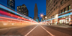 Hyper Wide Flatiron Composite (20170409-DSC09801-Edit) (Michael.Lee.Pics.NYC) Tags: newyork flatironbuilding fifthavenue night twilight bluehour traffictrails lighttrails composite longexposure sony a7rm2 voigtlander10mmf56