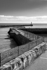 Seaham Harbour (Pam & Ben) Tags: seaham harbour bw mono sea canonefs1855mmf3556 canon 30d