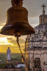 Sunset View from the Bell Church Granada Nicaragua (Johanna Barton) Tags: bell nicaragua city urbanlowlight landscape statue church granada