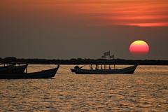 Sundown (Peter Denton) Tags: sunset beach ngapali bayofbengal sea burma myanmar southeaseasia ©peterdenton canoneos100d nature seascape peace peaceful tranquil tranquillity quiet tamron70300mm1456