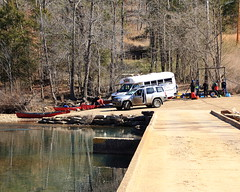 Virginia Tech Students Preparing to Spend Spring Break on Buffalo River -  Northwest Arkansas (danjdavis) Tags: virginiatech students canoes canoiests poncaaccess buffaloriver buffalonationalriver arkansas