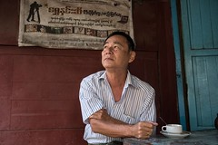 Taking time out at a teahouse in Mawlamyine (jessekirkwood) Tags: ifttt instagram myanmar burma mawlamyine tea teahouse travel street portrait fujix fujifilm fujifilmasia xt2