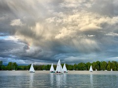 (rowjimmy76) Tags: pacificnorthwest weather rainbow sky spring landscape iphone6 greenery willametteriver johnslanding boat oregon pnw portland