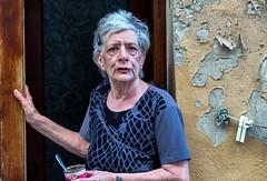 Cat woman in Valletta (zilverbat.) Tags: malta streetphotography people straatfotografie portrait straatfotograaf woman streetcandid canon streetlife urbanlife scenery streetshot streetscene image candid peopleinthestreet peopleinthecity travel visit zilverbat portretfotografie photography oldwoman oldage documentair socialdocumentaryphotography tattoo blikvoer cat conserve