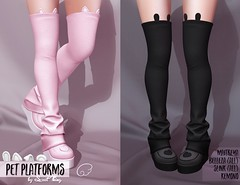 Pet Platforms by Sweet Thing. (Sweet Thing.) Tags: secondlife sl sweetthing tsh thesecrethideout maitreya slink belleza shoes legwarmers