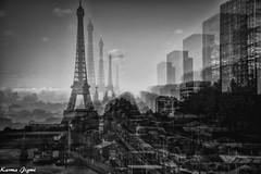 Rêveries I (karmajigme) Tags: dreams eiffeltower toureiffel tower paris france monument monochrome travel blackandwhite noiretblanc nikon