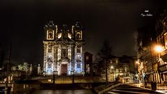 Pluie de nuit (Fred&rique) Tags: lumixfz1000 photoshop raw église portugal porto nuit pluie