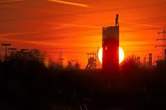 Nordstern Sunset, #2 (uwe1904) Tags: bergbau deutschland ge gelsenkirchen herkules himmel industriekultur nordstern pentaxk5 ruhrpott sonnenuntergang stadtlandschaft uwerudowitz zeche nrw d architektur