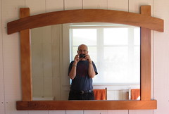 Bathroom mirror (marlow_pete) Tags: woodwork