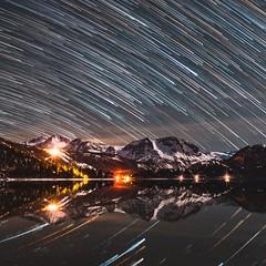 June Lake, Eastern Sierras (stevenmagner) Tags: milkyway longexposure inyocounty monocounty bishop california astrophotography startrails easternsierras junelake sigma canon