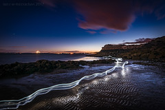 Optical Race (ianrwmccracken) Tags: kinghorn rock d750 nikon stars lowlight orion orange light landscape sand blue fife shore painting ripples rig twilight beach riverforth seascape wideangle cloud nikkor1635mmf4 constellation scotland