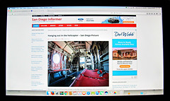 Finding my photos being used on the internet, with attribution, (LOL) is one of the Little Things.... (Bennilover) Tags: inthewild internet photos flickr finding google reversesearch fun littlethings helicopter ussmidway sandiego newspapers creativecommons find