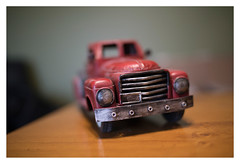Vintage Pickup (f.ahrenheit_) Tags: contax zeiss 35f14 sony a7r2 truck toy indoor cy