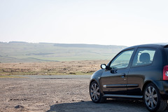 Renault Clio 182 (ConHen93) Tags: renault renaultsport rs car landscape countryside moors cars clio 182 hot hatch driving