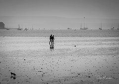 Poole Harbour at Low Tide (clive_metcalfe) Tags: water harbour tide poole dorset uk yacht silhouettes