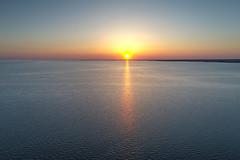 Sunset Delaware Bay New Jersey (Brian E Kushner) Tags: sunset thompsonbeachnj thompson beach new jersey delawarebay maurice river dji phantom 4 pro phantom4pro drone nature ©brianekushner