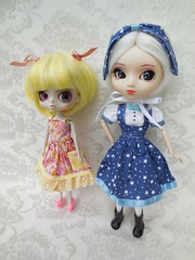 Buttercup and Bluebell (TrueFan) Tags: puddle pullipanddaldollloversevent 2017 teaparty silentauction byul pullip clorinda stica