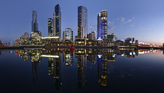 Still Melbourne (J-C-M) Tags: melbourne yarra southbank river water still calm evening sunset reflection reflected buildings towers skyscrapers lights city cityscape crown casino victoria australia