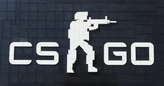 COUNTER-STRIKE: GLOBAL OFFENSIVE (Everblack.) Tags: lego counterstrike global offensive cs go logo