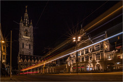 Tramlines in Gent (Neal Williams) Tags: gent ghent belgium tramlines night longexposure europe urban