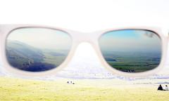 Sunglasses and Fulking Escarpment (rob orchard) Tags: raybans sunglasses southdowns canon35mmf2 fulking escarpment