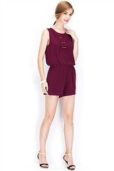 WAIST ELASTIC METAL TRIM ROMPER (adsdevel) Tags: buy by china cross for front made metal naked now only over polyester sleeve sold trim usd