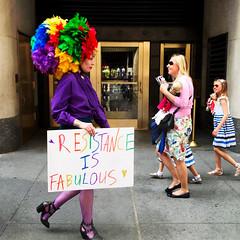Frida (ShelSerkin) Tags: shotoniphone hipstamatic iphone iphoneography squareformat mobilephotography streetphotography candid portrait street nyc newyork newyorkcity gothamist easterparade