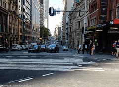 CBD & South East Light Rail - George Street -  Update 18 April 2017 (3) (john cowper) Tags: cselr sydneylightrail construction infrastructure transportfornsw altrac bridgestreet grosvenorstreet georgestreet track trackslab tracklaying alignment sydney newsouthwales
