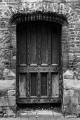 Ancient doorway to....? (roderick smith) Tags: stmaryschurch crypt nottingham bw blackandwhite monochrome canon eos6d ef85mmf18