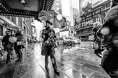 The Lady in the Rain (Mario Rasso) Tags: nikon d810 newyork manhattan rain umbrella usa street streetphotography woman city urban
