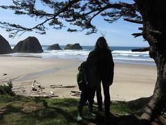 beach hair (carolyn_in_oregon) Tags: crescentbeach cannonbeach pacificocean ecolastatepark coast chiron alicia