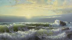 William Trost Richards - private collection. Off Conanicut, Newport (1904) (lack of imagination) Tags: 15002000 blog rocks seascape williamtrostrichards