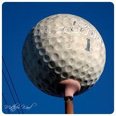 CRW_6442 (mattwardpix) Tags: big golf ball biggolfball golfball novelty advertisement former pro shop broadmeadow newcastle nsw australia matthewward