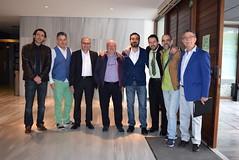 Actores con el director, Diego García, y el historiador Juan Hidalgo. (almeriainformacion) Tags: cine documental la fosa borrada del sur memoria histórica almería museo de