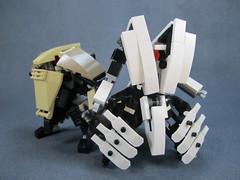 w.04 and w.05 (Messymaru) Tags: original robot lego gunner mecha mech moc